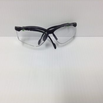 Safety Glasses Clear Lens Black Frame SGClearB